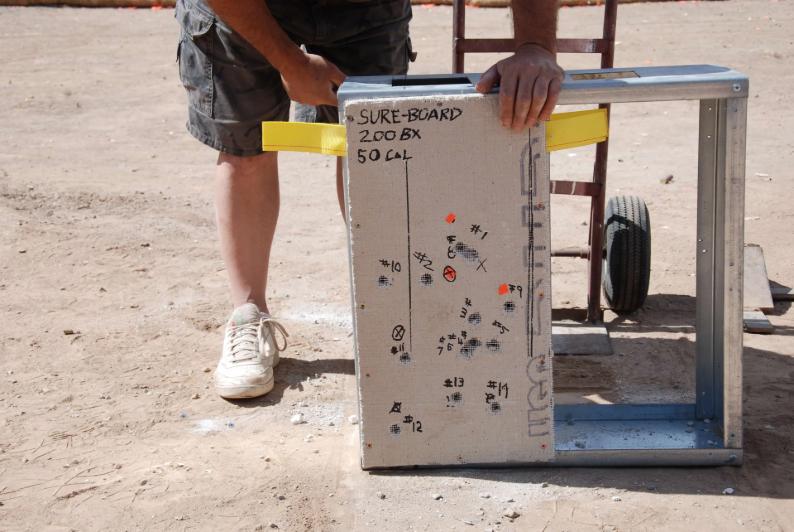 sureboard 200bx 50cal demonstration piece of board